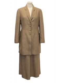 Caroline Charles Tan Skirt and Suit Jacket