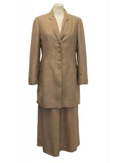 Caroline Charles Tan Skirt and Suit Jacket