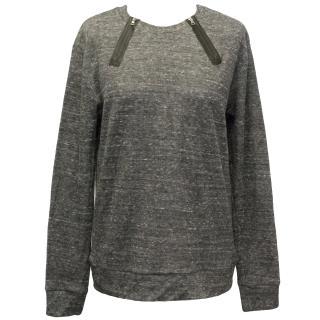 J Brand Grey Heathered Knit Jumper
