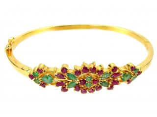 Ruby and Emerald Cuff
