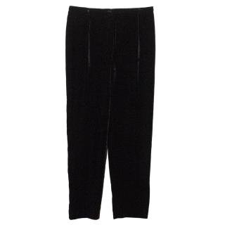 Mani Black Velvet Trousers