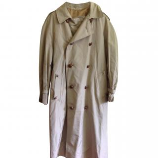 Aquascutum beige overcoat 100% silk