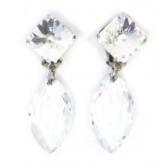 Poggi Crystal Clip on Earrings