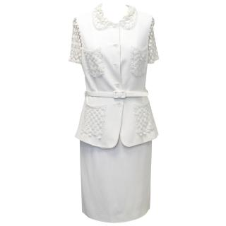 Cheap and Chic by Moschino White Suit