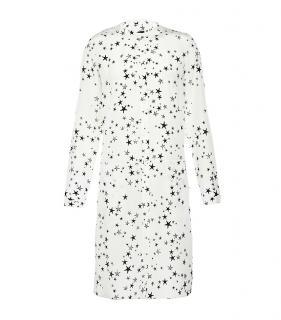 Tibi White Starfish Print Shirt Dress