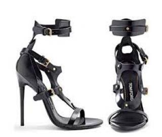 Tom Ford stiletto black sandals 38