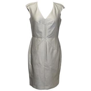 Boss Hugo Boss Grey Silk Sheath Dress