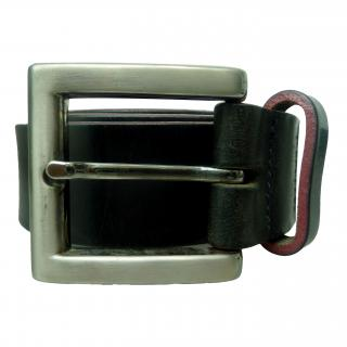 Paul Smith Black Leather belt with contrasting edge