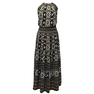 Hale Bob Tribal Print Maxi Dress