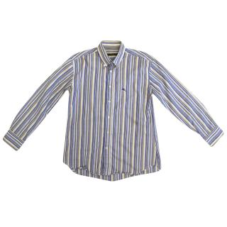 Etro Kids Light Blue, Beige Striped Shirt