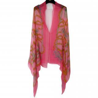 Hermes Fleur de chien XL scarf wrap