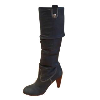 Bally Blue long boot