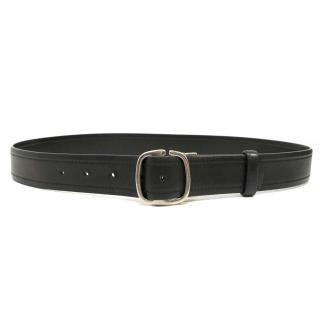 Salvatore Ferragamo Black Leather Belt