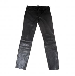 Marc Jacobs black leather leggings