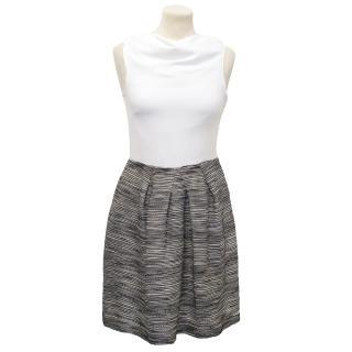 Christian Dior Black and White Skirt Dress