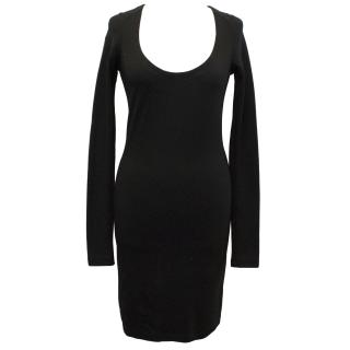The Row Black Fitted Dress