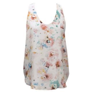 Rebecca Taylor Floral Print Silk Top