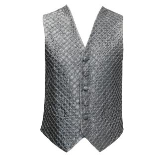Ascot & Henley Grey Silk Diamond Pattern Waistcoat