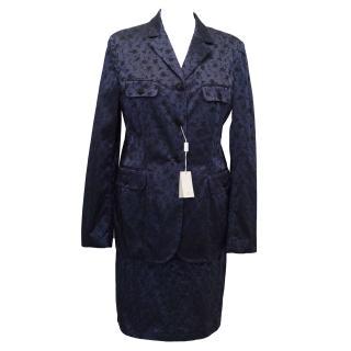 Philosophy di Alberta Ferretti Navy Skirt Suit