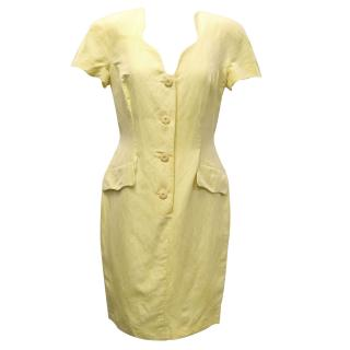 Fendi Yellow '365' Linen Dress