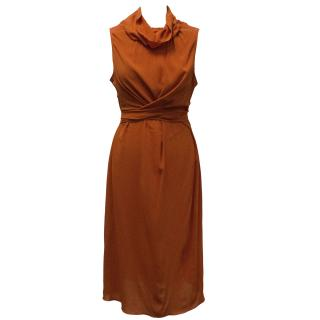 Philosophy di Alberta Ferretti Orange Dress
