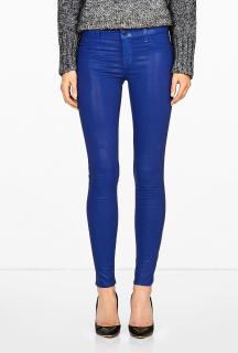 J Brand Blue Coated Electric Iris Midrise Skinny Jeans