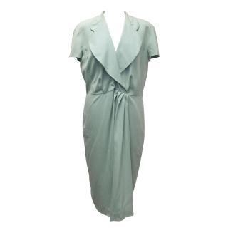 Fendi Mint Green Silk Dress