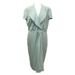 Fendi Mint Green Silk Dress