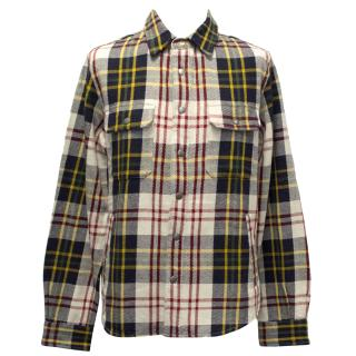 Woolrich Tartan Cotton Shirt in Red, Yellow and Blue