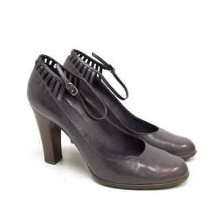 Marc Jacobs Purple Leather Mary Jane Pumps