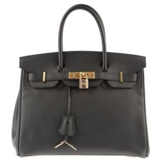 Hermes 30cm Black Birkin