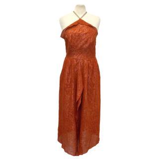 Roland Mouret Red Silk Blend Dress