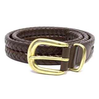 Coach Brown leather Braided Belt