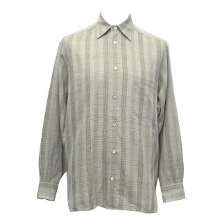Ermenegildo Zegna Green Checked Cotton Shirt