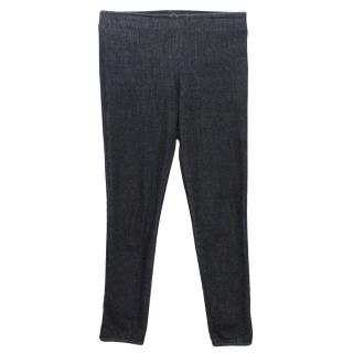 The Row Navy Blue Jean Leggings
