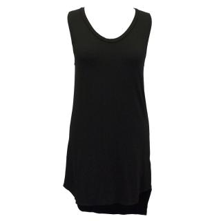 LNA Black Open Back Tank Dress