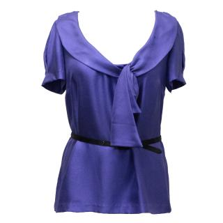 Lavender Label Vera Wang Periwinkle Blue Top