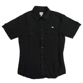 Armani Teen Black Short Sleeve Shirt