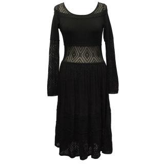 Temperley Black Knit Dress