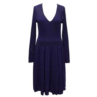 Temperley Electric Blue Knit Dress
