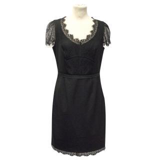 Rebecca Taylor Black Short Sleeved Dress