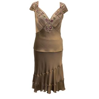 Alberta Ferretti Silk Top and Skirt