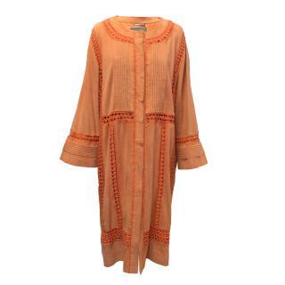 Alberta Feretti Orange Suede Coat