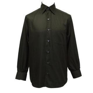 Ermenegildo Zegna Black Textured Shirt
