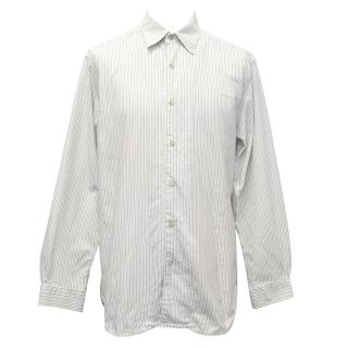 Tommy Bahama Blue and Green Striped Shirt