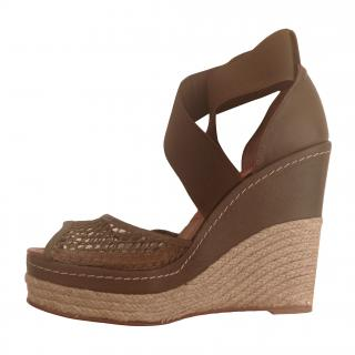 Paloma Barcelo Espadrille Wedge Sandals - Khaki