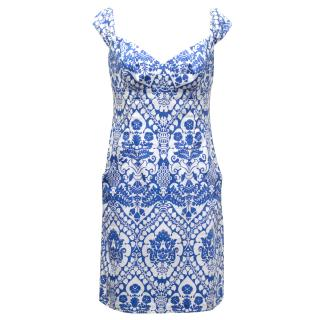 Milly White and Blue Cotton Sundress