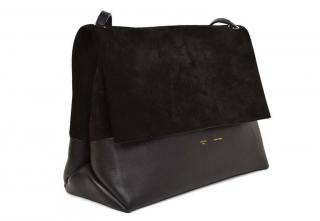 Celine Suede and Leather Flap Bag