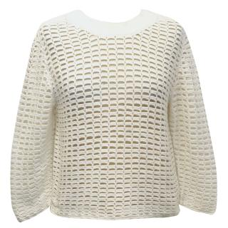 A-K-R-I-S White Jumper