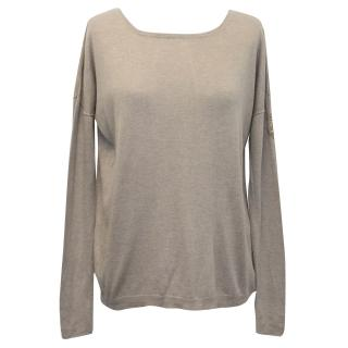 Zadig & Voltaire Beige Sweater with Open Back